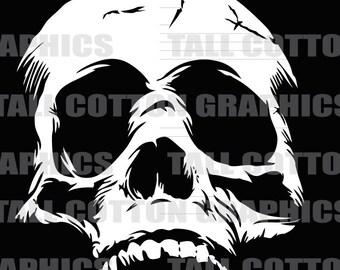 Human Skull Vinyl Decal #SKL008