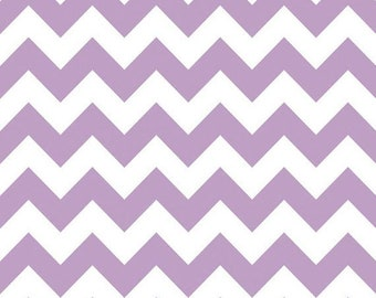 SALE Lavender Chevron Medium - Fat Quarter - Riley Blake Medium Lavender Chevron Fabric Cotton