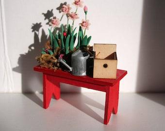 Miniature Pink Daffodil Bench