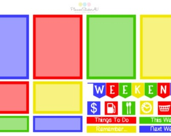Primary Colours | Mini Spread | Weekly Spread | 6019 | Planner Stickers | Kikki-K | Happy Planner | Erin Condren