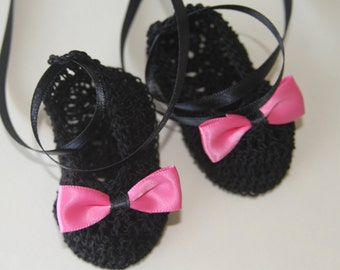 Crocheted Newborn Baby Booties Infant Girl Crib Shoe/Ballet Slippers Knit Baby Mary Janes Baptism Baby Shoes Crochet Reborn Booties