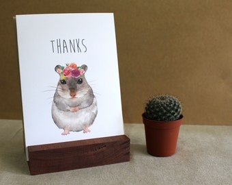 """Thanks Greeting Card Chinchilla 