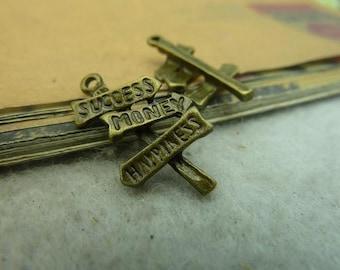 20pcs 8x18mm The Duideboard  Antique Bronze Retro Pendant Charm For Jewelry Bracelet Necklace Charms Pendants C3519