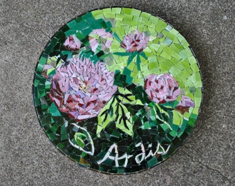 Custom designed mosaic stepping stone of the month gift - 3 mosaic stepping stones