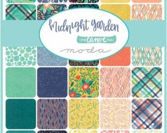 Moda Fat 8th Bundle, Fat 8th Midnight Garden, Moda Bundle, Midnight Garden Bundle, Moda Fat 8th, 1 Canoe 2 - Midnight Garden, Fat Eighths