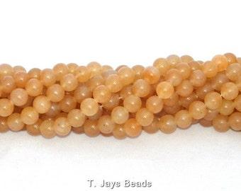 8mm Red Aventurine Round Beads
