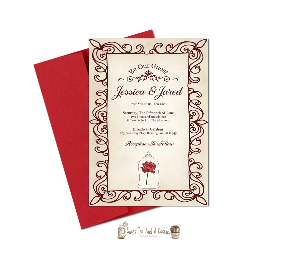 9 Beautiful HandIllustrated Wedding Invites Couples Wedding