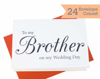 Wedding Card to your Brother, Wedding Cards, Thank you card for Brother (WC063-CL)