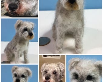 """Made to order- Custom Made Needle Felted Dog """"Mini-Pup"""""""