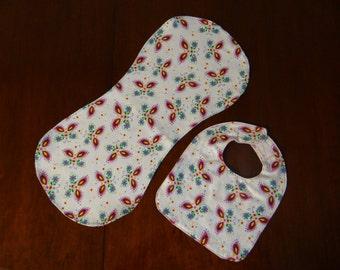 Infant Bib & Burp Cloth 2-pc Set