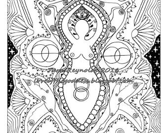 Mandala Coloring Page Printable Coloring Page Goddess