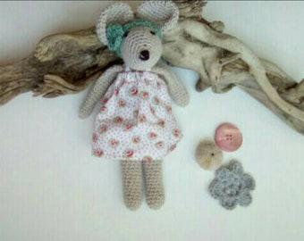Amigurumi mouse. Crochet mouse. Kids crochet blanket. Bebe.cadeau birth gift.