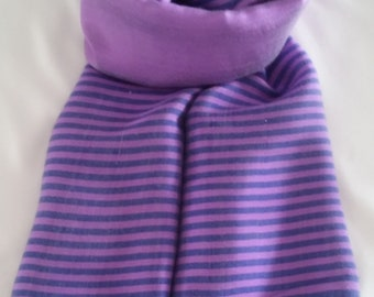 NEW ARRIVAL...Women's 100% Handwoven Eggplant and Lilac Purple Striped Lustrous Ethiopian Cotton Scarf