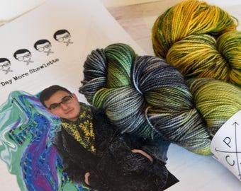 One Day More Kit- Alabama Sock 80/20 Superwash Merino/Nylon - hand dyed yarn - Ready to ship