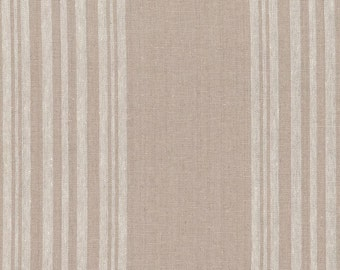 STOF Fabrics by Blank Quilting - Shabby Chic Cotton/Linen - White Stripe