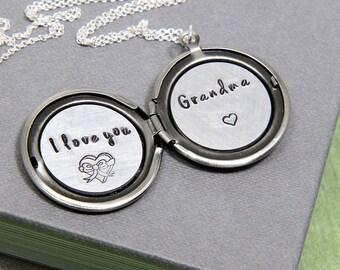 Grandma Necklace, Nana Necklace, Mother Necklace, Locket Necklace, Gift for Grandma, Gift for Nana, Gift for Mother, Mother's Day Gift