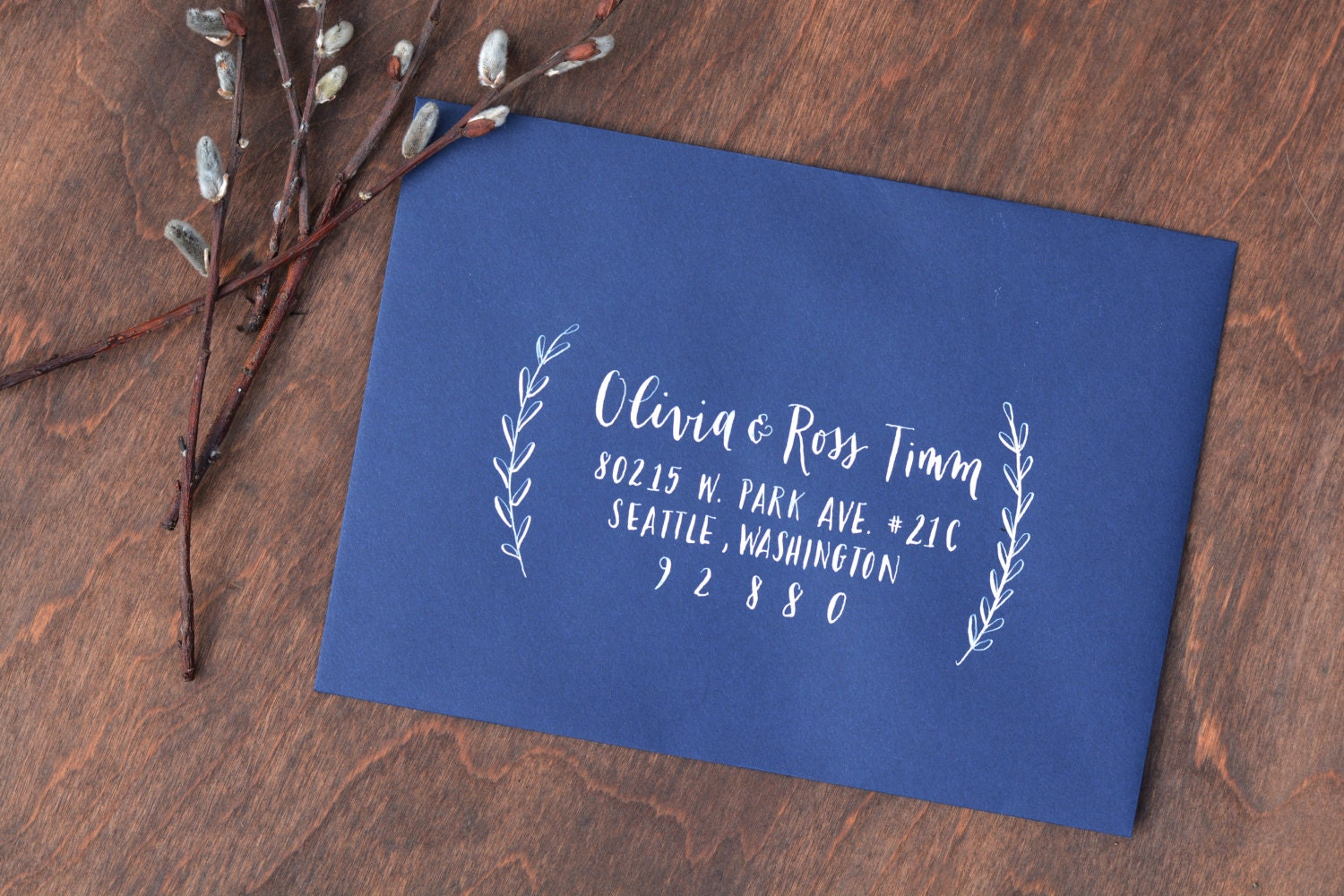Wedding Calligraphy Envelope Addressing Modern calligraphy