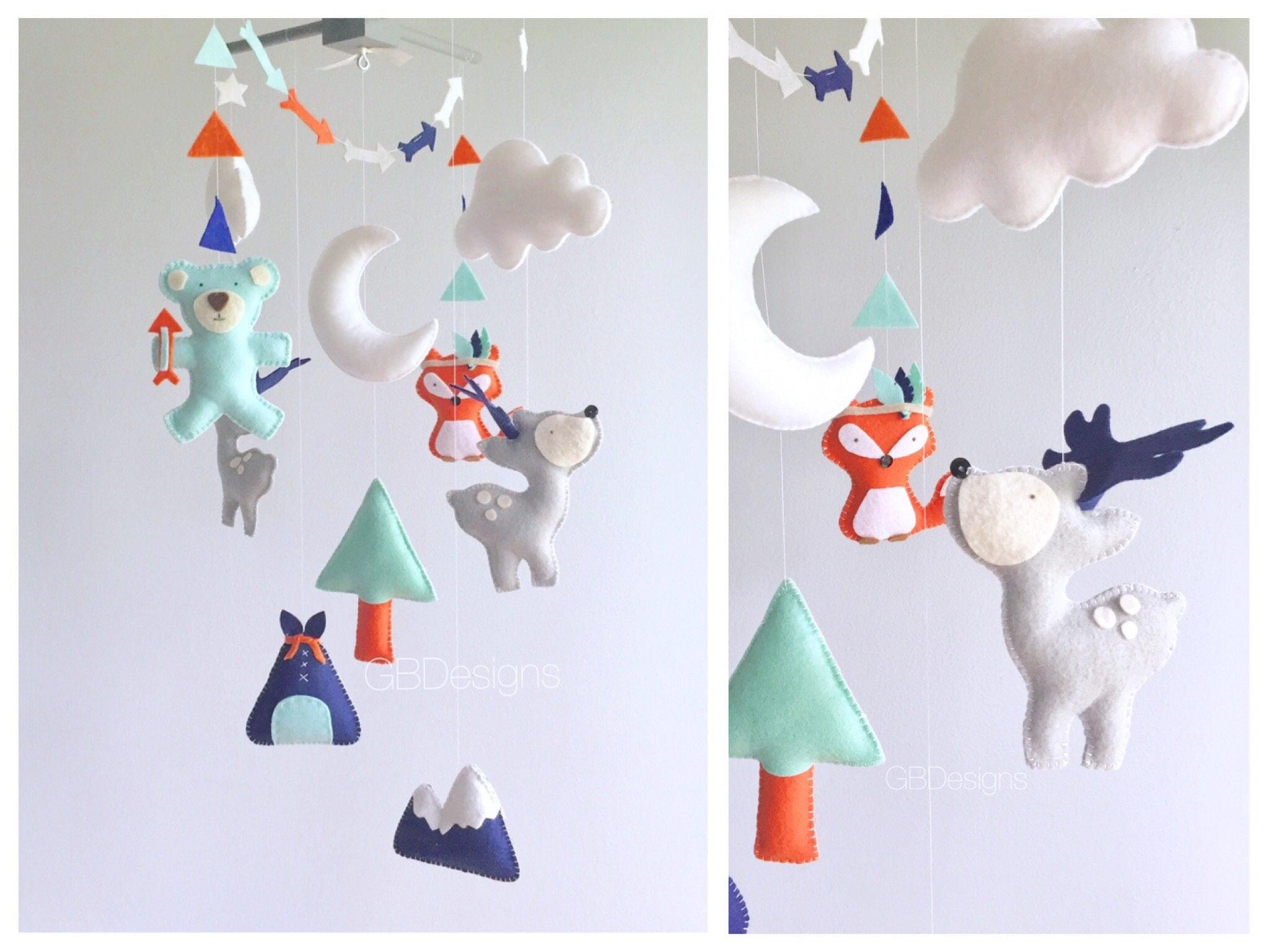Baby mobile Kinderzimmer mobile Fuchs Fox Mobile Tipi