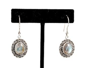 Labradorite 069 - Earrings - Sterling Silver