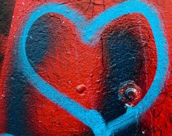 spray paint heart, wall art photography, abstract photography