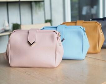 Minimalist real leather bag