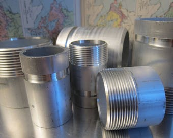 """1/2"""" x 1-1/2"""" Pipe Nipples, Sch 40, NPT, One End Only, Aluminum 6061, In Stock, Made in Canada - see Description for Discount Codes"""