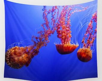 Ocean Jellyfish Tapestry