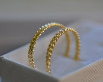 Gold hoop earrings, large hoop earrings, braided hoop earrings, twisted hoop earrings, open hoop earrings, delicate hoops, gold hoops