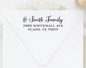 Family Address Stamp, Return Address Stamp, Last Name Address Stamp, Personalized Family Stamp, Housewarming Gift, Self Inking Address Stamp