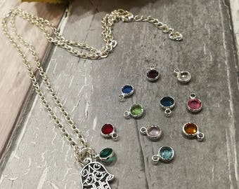 Hamsa Hand Necklace, Hamd of Fatima Necklace, Hamsa Necklace, Hamsa Jewellery, Boho Necklace, Protection Necklace, Yoga Necklace Hamsa Charm