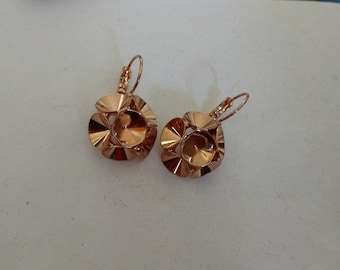 Rose Gold Empty cup earrings