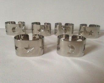 Metal Napkin Rings, Silver Napkin Rings, Christmas Napkin Rings, Christmas Table, Silver Table Decor, Serviette Rings, Silver Tableware