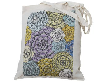 Tote Bag / Shopping Bag - Fowers - 100% Eco-Friendly Organic Cotton. Meadow