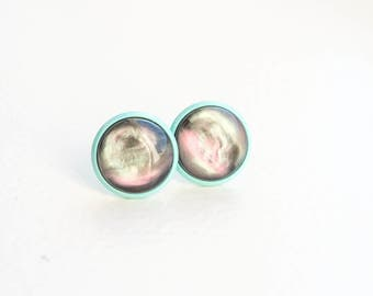 Simple Stud Earrings Circle Studs Simple Studs Round Studs Colorful Studs Simple Post Earrings Round Stud Earrings Small Post Earrings Tiny