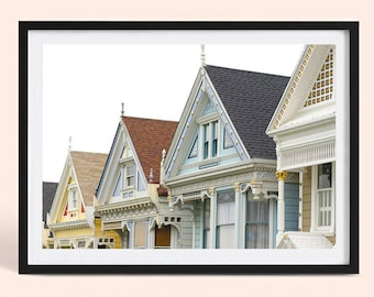 San Francisco Wall Decor | Painted Ladies of Alamo Square | City Landscape Photography Print | Poster Print | Art Print