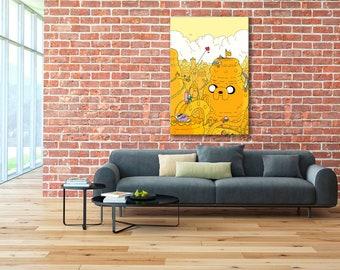 Adventure Time Art, Adventure Time, Finn and Jake, Adventure Time canvas, Finn and Jake canvas, Adventure Time print, Finn and Jake print