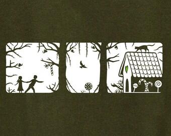 Hansel & Gretel Fairy Tale Shirt Hänsel und Gretel T-Shirt {men}
