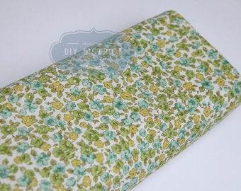 Green liberty style Japanese fabric