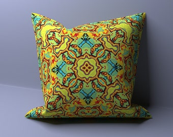 Yellow Bed Throw Pillow Cover - Sofa Pillow Case - Cushion Cover for Couch Pillow - Colorful Pillow - Decorative Pillow - Summer Pillow
