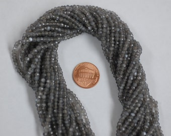 Gray Moonstone Rondelle Faceted