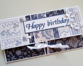Happy birthday money holder, Money envelope, birthday cash gifting, birthday envelope, Gift card envelope, Birthday gift