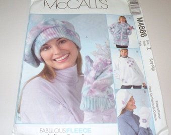 McCalls 4666 Jackets, Hats and Mitts UNCUT pattern Large to Extra Large