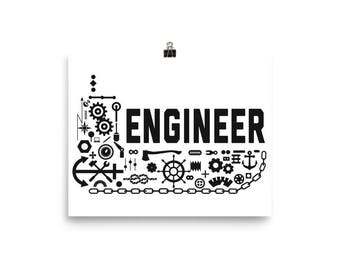 Ship Engineer Poster