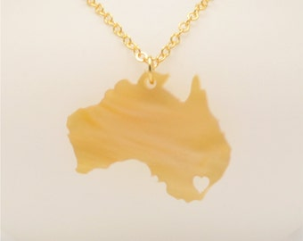 FREE SHIPPING Australia Necklace, Jewelry, Going Away Gift,  FREE Gift Wrapping, Mother's Day Gift