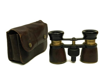 Antique French Opera and Theatre Viewing Binoculars. Men Field Magnifying Glasses. Made in France. Gift for Him.