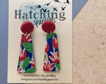 Australian native Hakea inspired earrings
