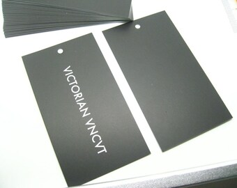 "1000 price tags, black tags, hang tags, swing tags - Standard size 2""x3.5""  (50x89mm)"