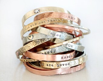 Personalized Bracelet / Unique Jewelry / Mother Gift / Graduation Gift / Personalized Bracelet / Customized Cuffs / Gift For Her / Custom