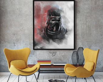 Star Wars kylo Ren painting print