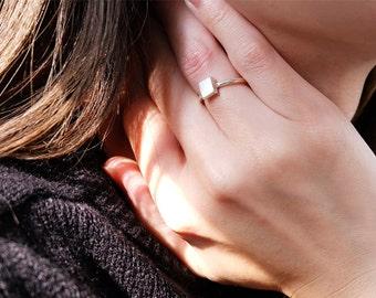 square ring, geometric jewelry, geometric ring, silver square ring, simple ring, open square ring, minimalist ring, minimal jewelry, square